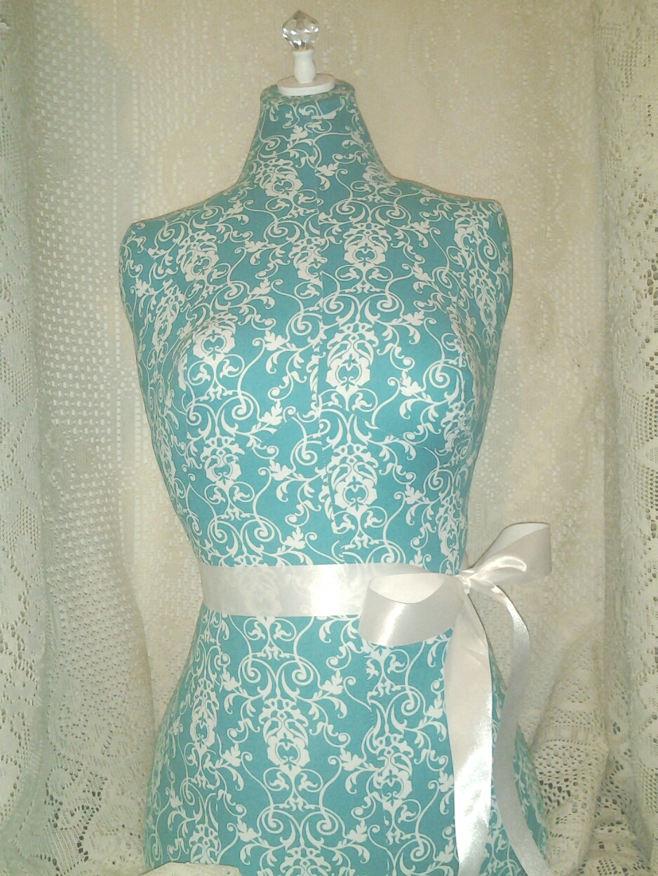 Boutique Centerpiece Dress Form Jewelry Display Stand Turquoise